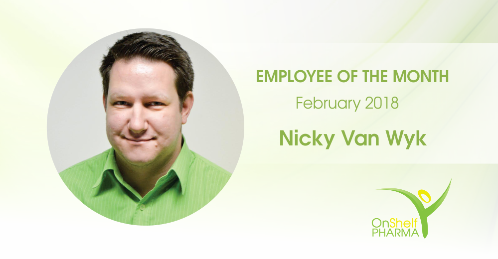 Employee of the Month: Nicky Van Wyk – February 2018
